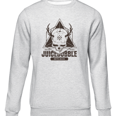 juicebubble skull grey sweater