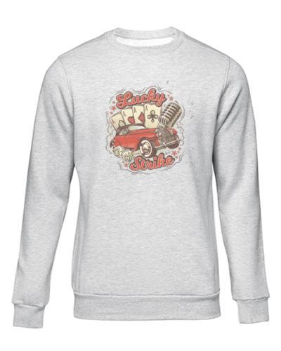 lucky strike grey sweater