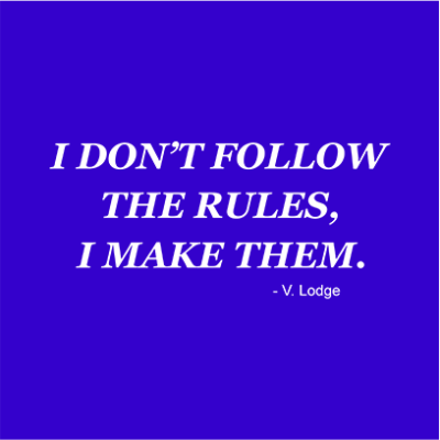 i dont follow rules blue square
