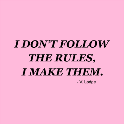 i dont follow rules pink square