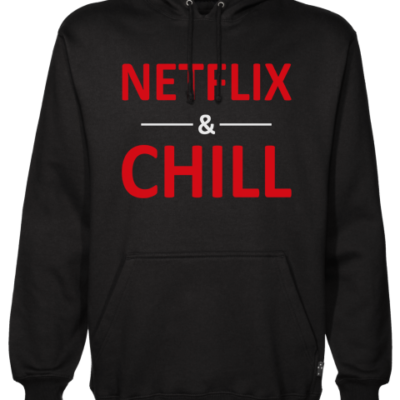 netflix and chill Black Hoodie jb