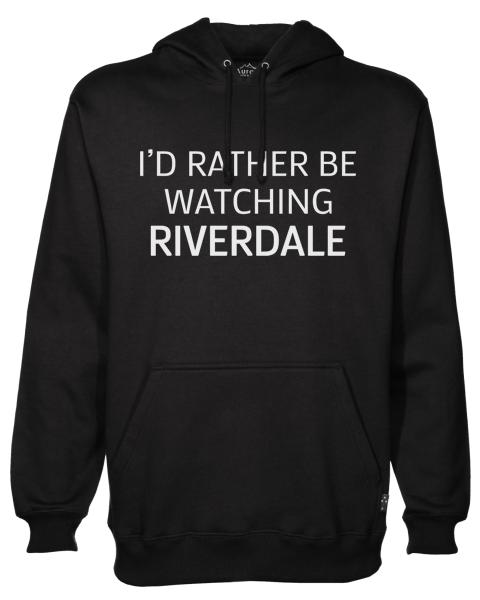 rather be watching riverdale Black Hoodie jb