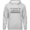 rather be watching riverdale Grey Hoodie jb
