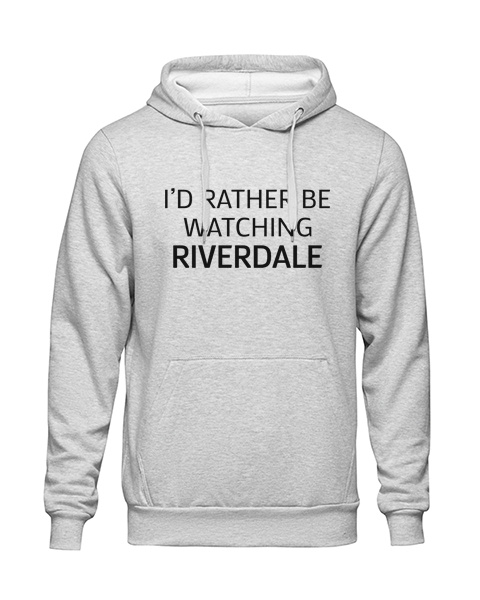rather be watching riverdale Grey Hoodie jb