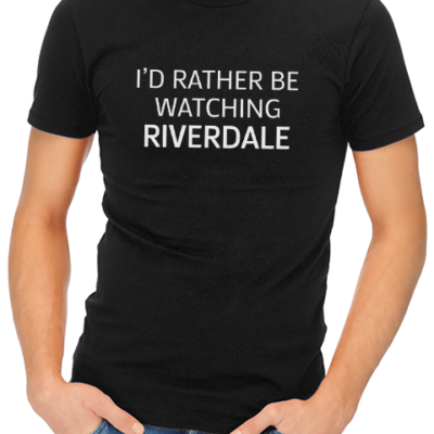 rather be watching riverdale mens tshirt black