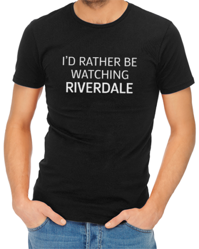 rather be watching riverdale mens tshirt black