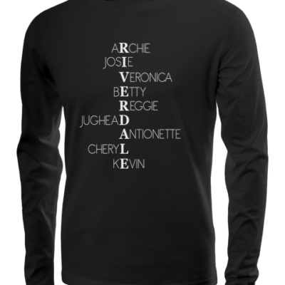 riverdale characters long sleeve black