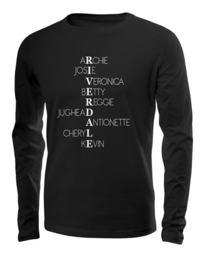 riverdale characters long sleeve black