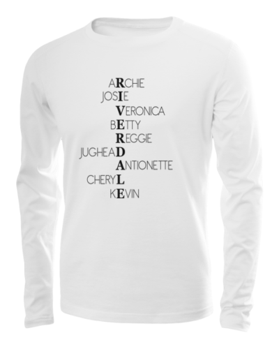 riverdale characters long sleeve white