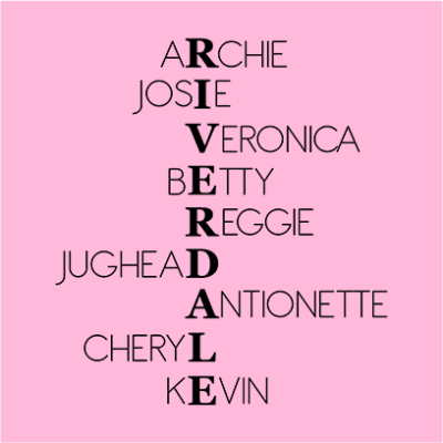 riverdale characters pink square