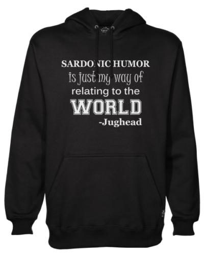 sardonic humor jughead black hoodie