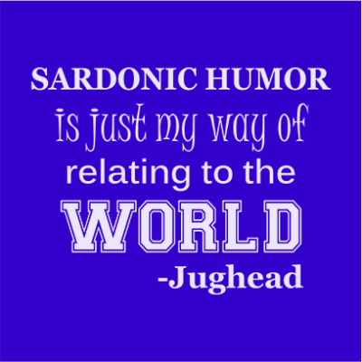 sardonic humor jughead blue square