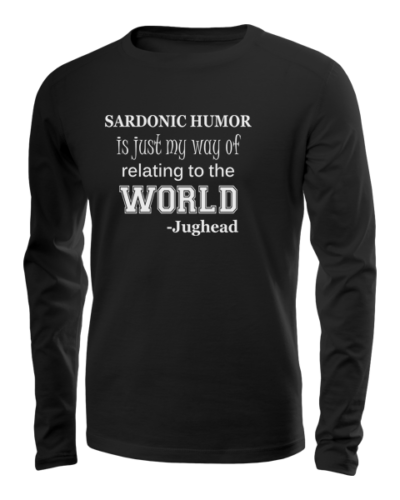 sardonic humor jughead long sleeve black