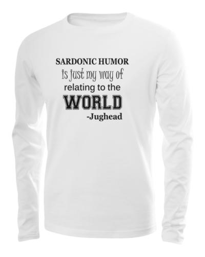 sardonic humor jughead long sleeve white