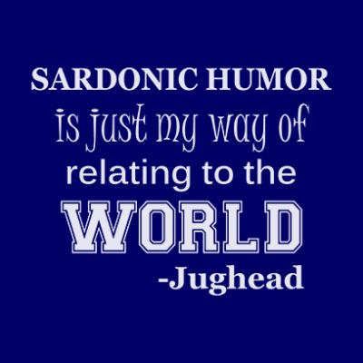 sardonic humor jughead navy square