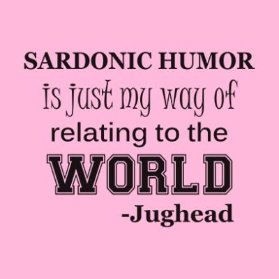 sardonic humor jughead pink square