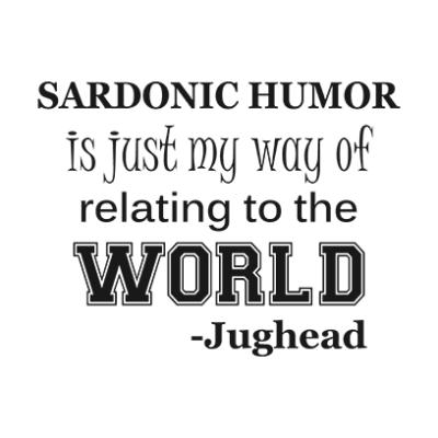 sardonic humor jughead white square