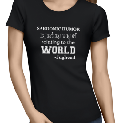 sardonic humor ladies tshirt black