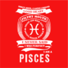 pisces red square