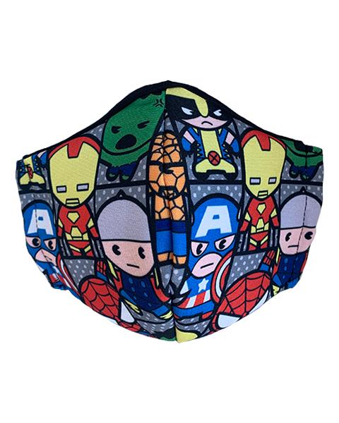 superhero fabric face mask design 2