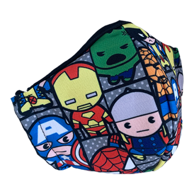 superhero fabric face mask design 2