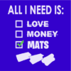 All i need is mats blue square