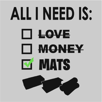 All i need is mats grey square