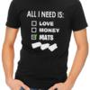 All i need is mats mens tshirt black