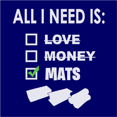 All i need is mats navy square