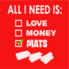 All i need is mats red square