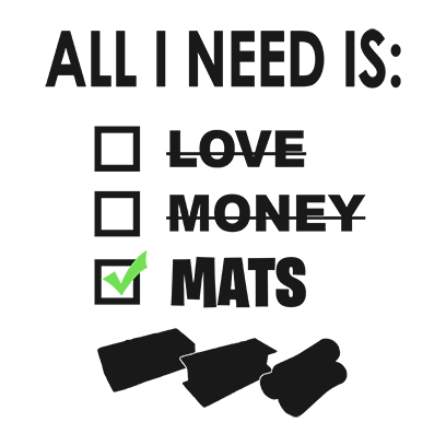 All i need is mats white square