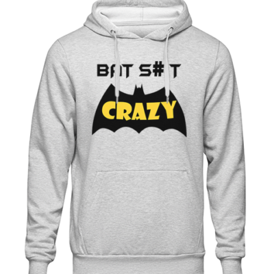 bat crazy Grey Hoodie