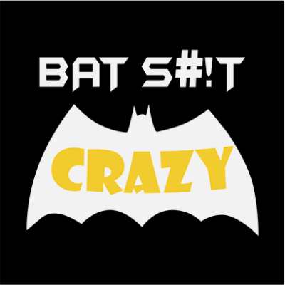 bat crazy black square