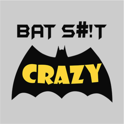 bat crazy grey square