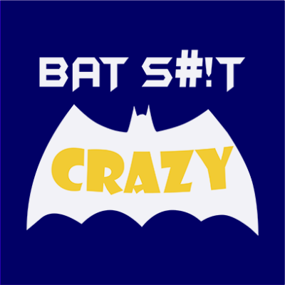 bat crazy navy square