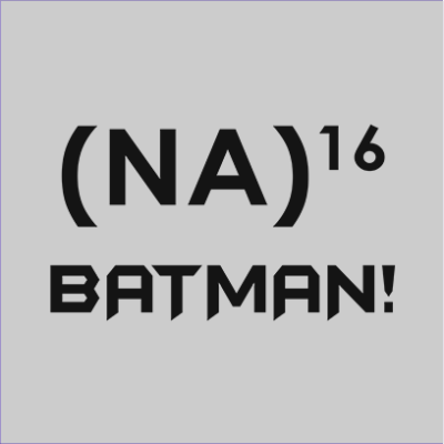 na 16 batman grey square