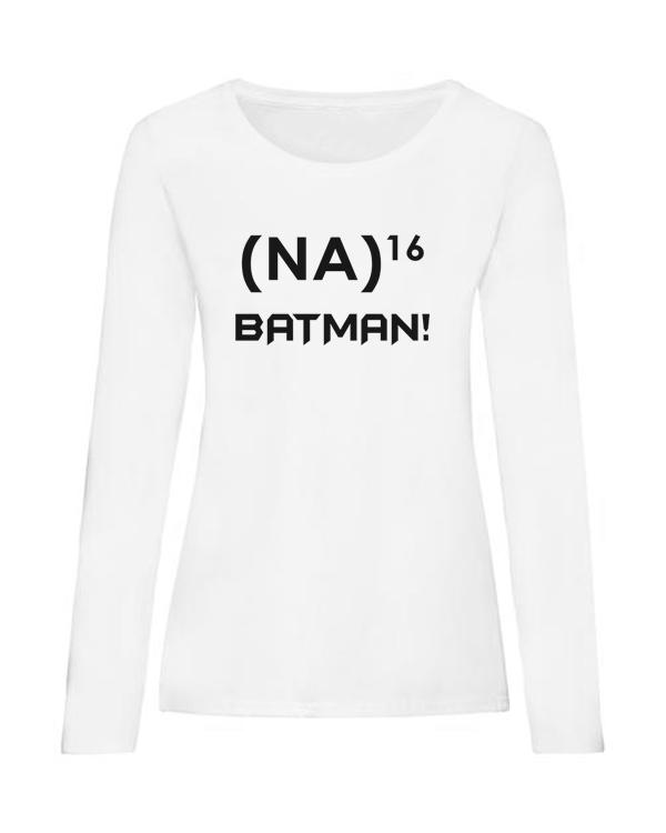 na 16 batman ladies white long sleeve