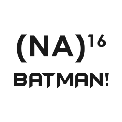 na 16 batman white square