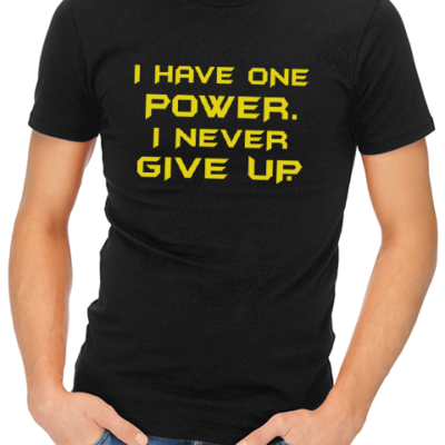 one power batman mens tshirt black