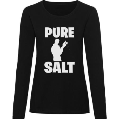 pure salt ladies black long sleeve
