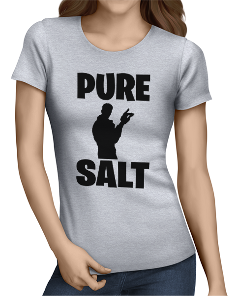 pure salt ladies tshirt grey