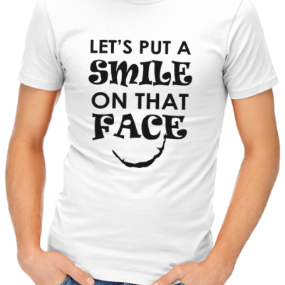 smile on that face mens tshirt white