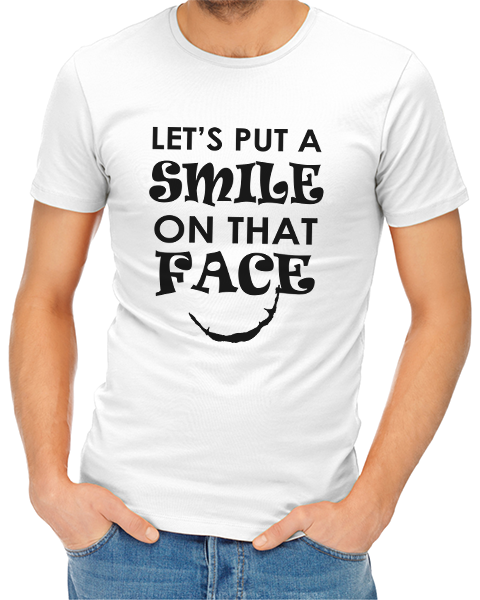 smile on that face mens tshirt white