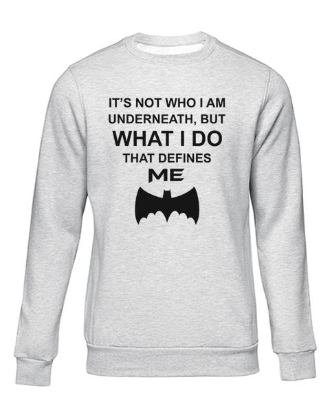 who i am underneath grey sweater