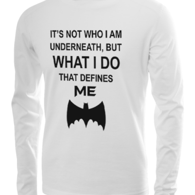 who i am underneath long sleeve white