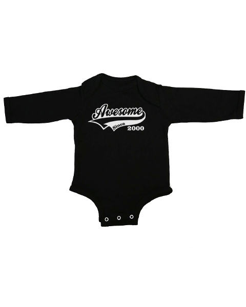 awesome since baby black long sleeve
