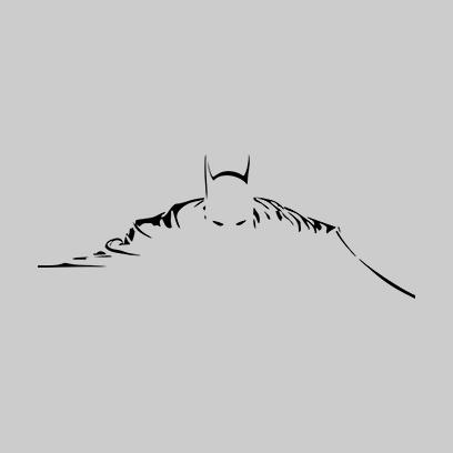 batman silhouette grey square