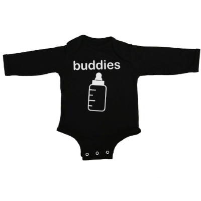 buddies baby black long sleeve