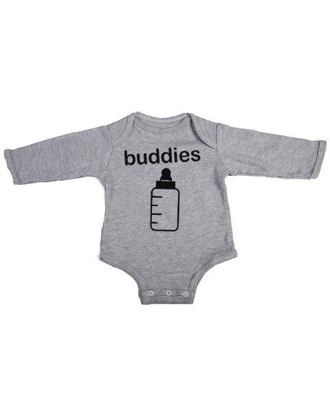 buddies baby grey long sleeve