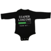 diaper loading baby black long sleeve